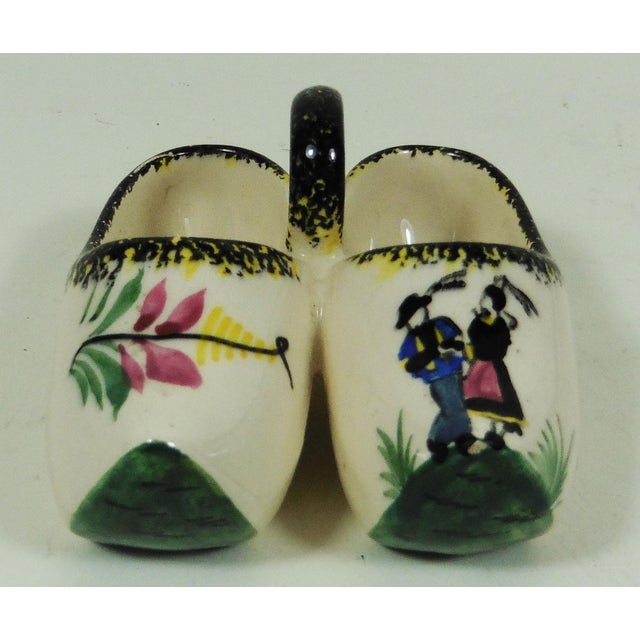 1930s French Quimper Clogs Saltcellar For Sale - Image 5 of 5
