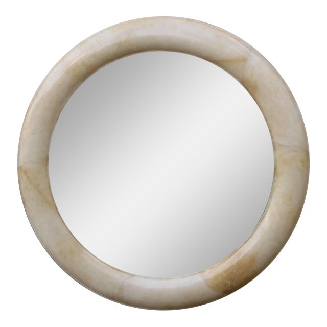 Lacquered Goatskin Mirror - Image 1 of 6