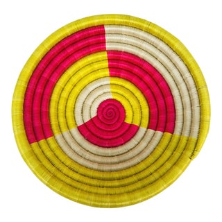 Pink & Yellow African Artisan Bowl