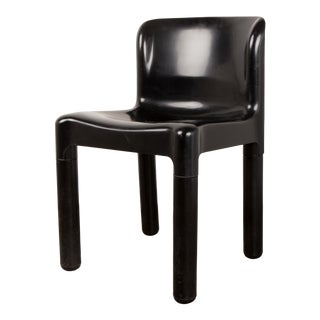 "Italian Side Chair in Black ""Model 4875"" by Carlo Bartoli for Kartell, 1970s For Sale"