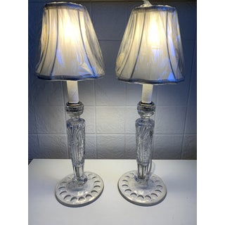 Crystal Candle Table Lamps - a Pair Preview