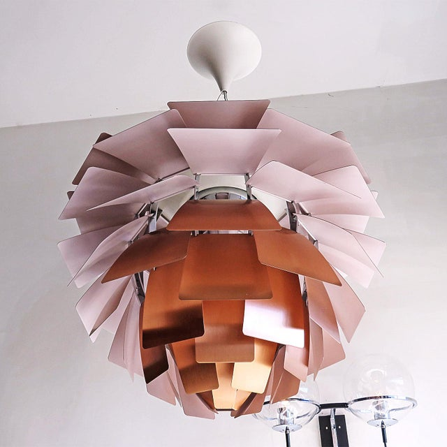 1950s 1950s Large Ph Artichoke Copper Lamp by Poul Henningsen For Sale - Image 5 of 11