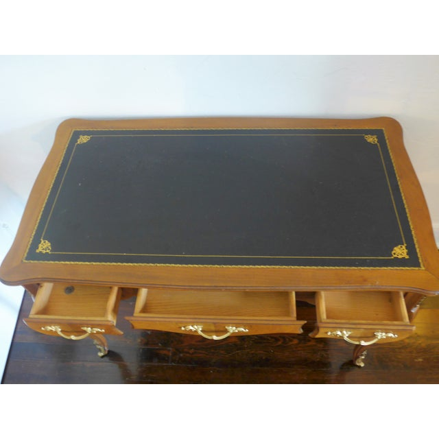 1960's Leather Top Writing Desk For Sale - Image 10 of 10