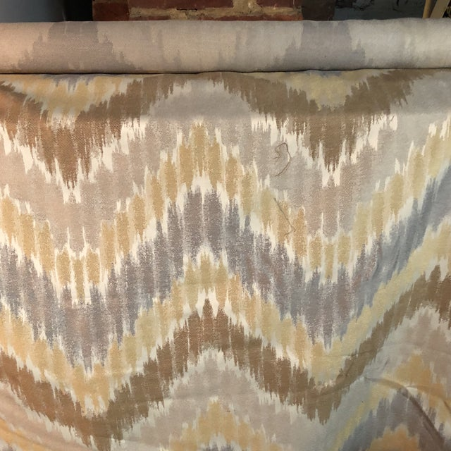 Gray, Golden & Brown Fabric - 1.5 Yards For Sale In New York - Image 6 of 6