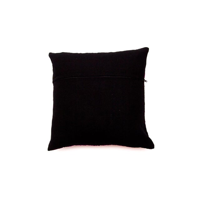 Hill Tribe Pillow - Handmade in Thailand Yellow - Image 4 of 4