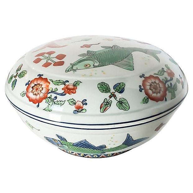Vintage Fish Motif Lidded Serving Bowl - Image 2 of 7