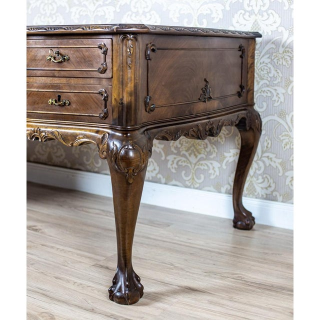 Chippendale Two-Sided Writing Desk For Sale - Image 9 of 12