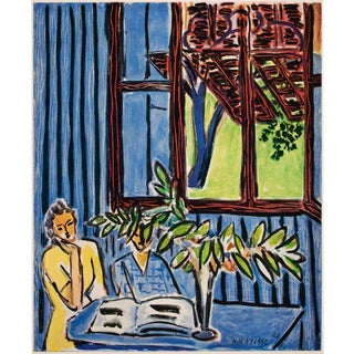 """Rare 1948 Matisse """"Two Girls and Red Window in Blue Interior"""", First Edition Period Lithograph for Verve For Sale"""