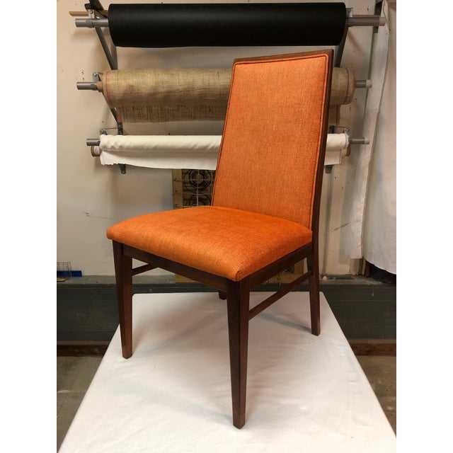 Dillingham Manufacturing Company 1970s Vintage Milo Baughman for Dillingham Walnut Side Chair For Sale - Image 4 of 6