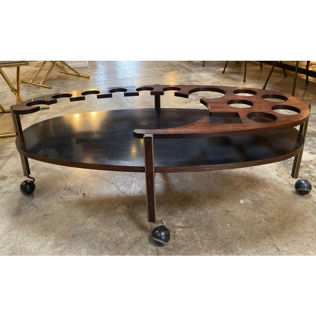 Danish Modern Ico Parisi Sculptural Open Bar Coffee Table Mod. Idra, Italy, 1960s For Sale - Image 3 of 10