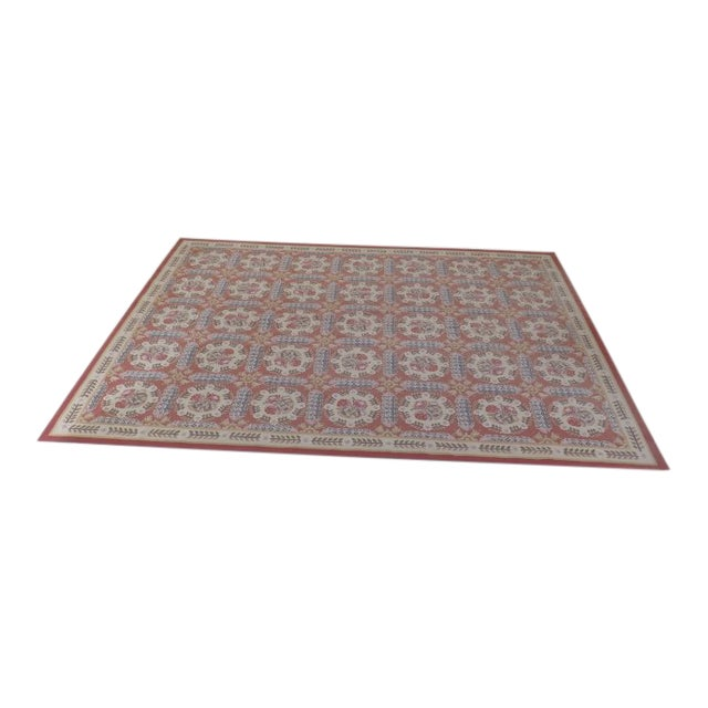 1980s Aubusson Room Size Rug - 8' X 12' For Sale