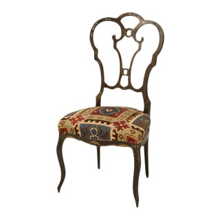 Napoleon III Black Lacquer Parlor Chair For Sale