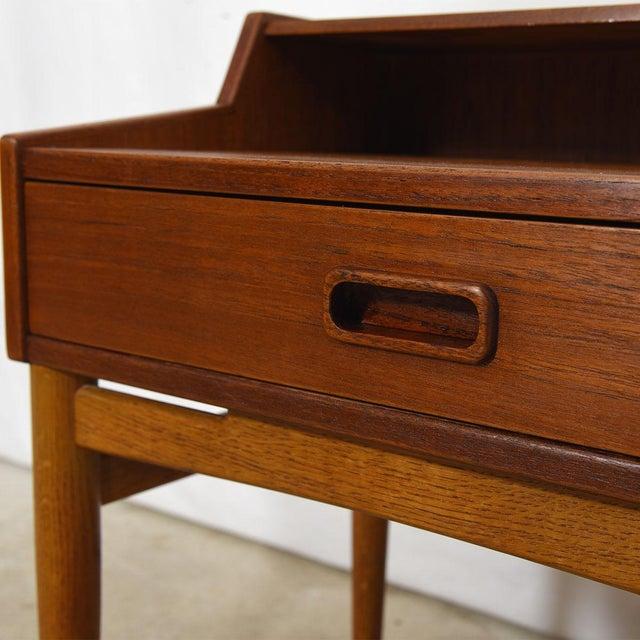 Danish Modern Arne Hovmand-Olsen for Mogens Kold Teak Nightstands - a Pair For Sale - Image 3 of 8