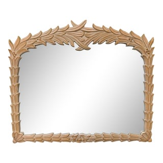 Palm Frond Wall Mirror Attributed to Serge Roche For Sale