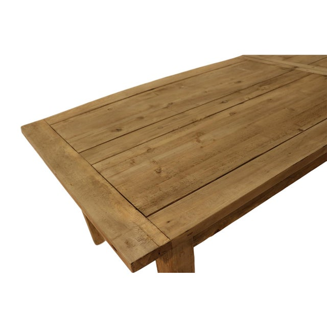 Parsons Rectangular Reclaimed Old Wood Dining Table - Image 10 of 10