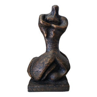 Mid-Century Modern Brutalist Female Sculpture For Sale