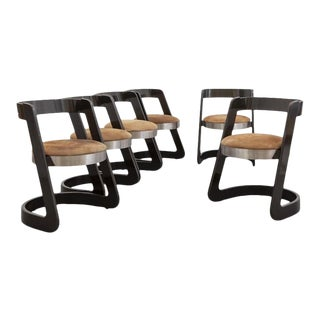 1970s Willy Rizzo Chairs, Italy - Set of 6 For Sale