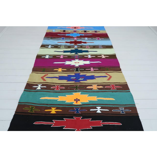 This beautiful rug from westhern of Turkey Denizli Nomads. Handspun Pure Wool .Kilim rug hosts an intriguing pallet of...
