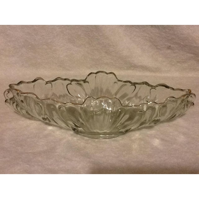 Vintage Mid-Century Clear Glass Bowl For Sale - Image 4 of 5