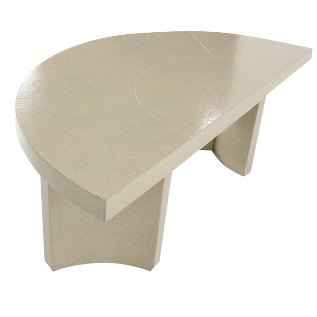Mid-Century Modern Paul Frankl Demilune Console Table For Sale - Image 9 of 9
