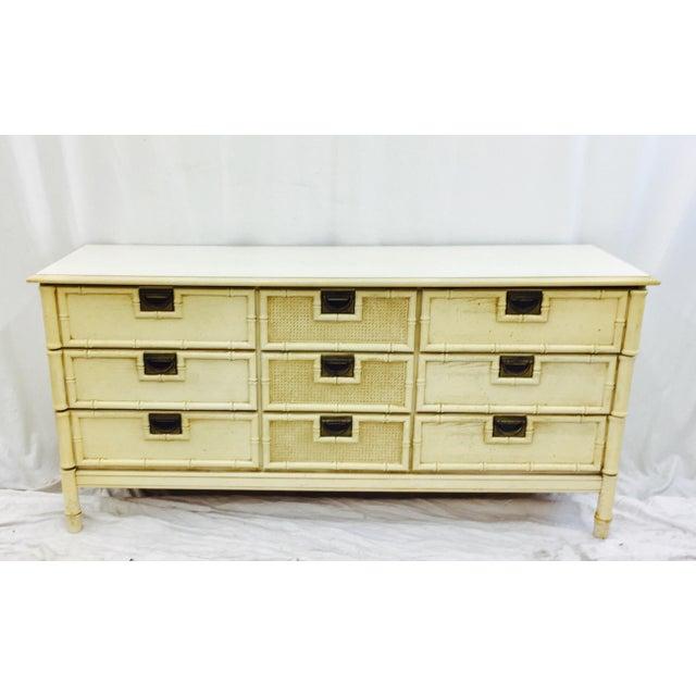 Vintage Faux Bamboo Dresser For Sale - Image 5 of 10