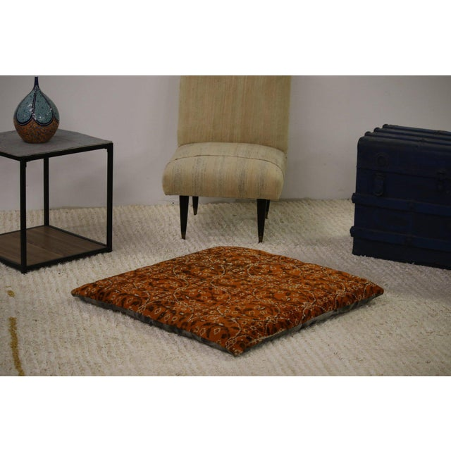 Modern Rug Floor Pillow For Sale - Image 4 of 4