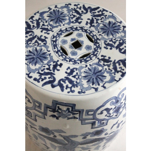 Chinoiserie Porcelain Garden Stool - Image 2 of 3