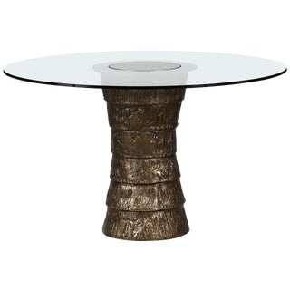 Customizable Sculptural Brutalist Pedestal Style Table For Sale