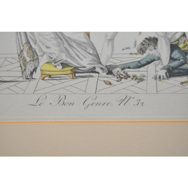 """New Year's Gifts"" Hand Colored French Engraving For Sale - Image 4 of 7"