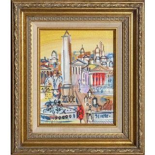"""Charles Cobelle, """"Place De La Concorde With Luxor Obelisk"""", Paris Cityscape Painting For Sale"""