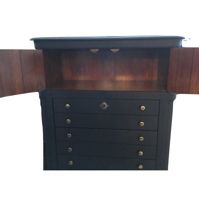 National Mount Airy Black & Gold Beadboard Dresser - Image 2 of 10