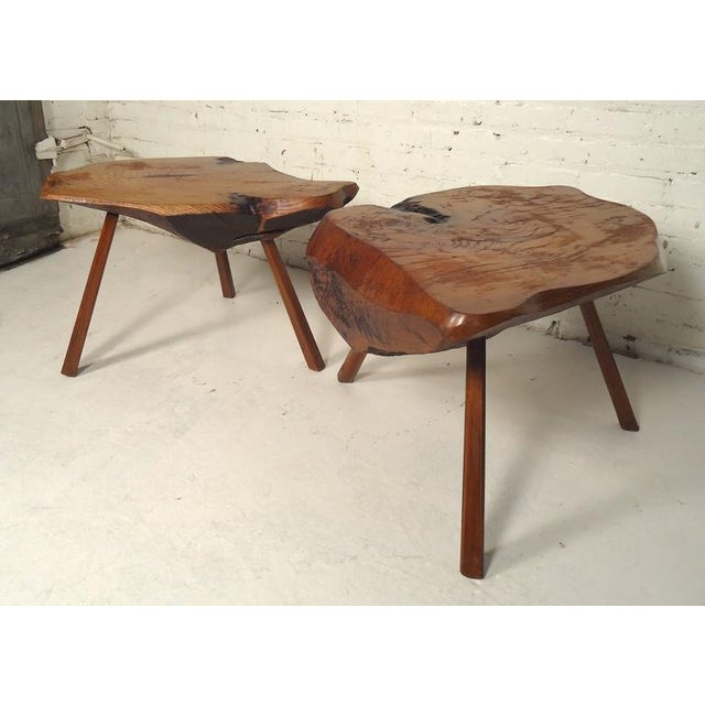 3b5dfcd51027 Modern Live Edge Tables - A Pair For Sale In New York - Image 6 of