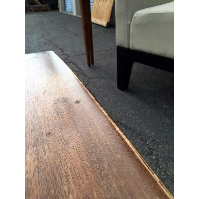 Brown Vintage Bassett Walnut Surfboard Coffee Table For Sale - Image 8 of 8