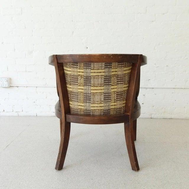 Vintage Boho Barrel Lounge Chair For Sale - Image 4 of 6