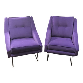 Italian Marco Zanuso Style Arm Chairs - a Pair For Sale
