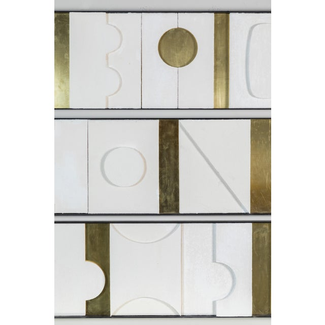 Not Yet Made - Made To Order Art Wall Sculpture Modernist Frieze Panels Triptych by Paul Marra For Sale - Image 5 of 8