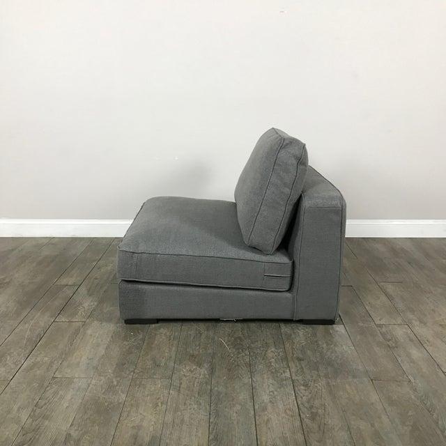 Gray Modern Armless Club Chair - Image 10 of 11