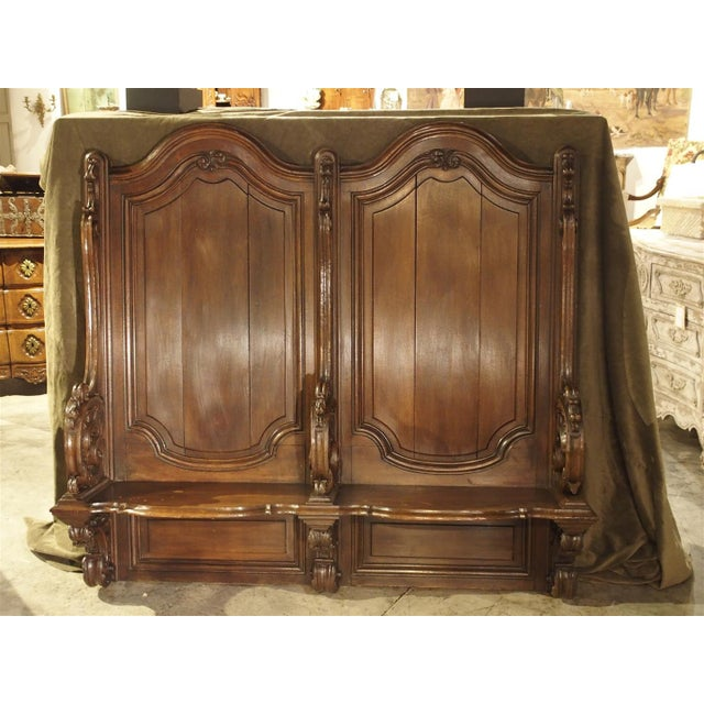 Oak 19th Century Sculpted Oak Stall from a Private Chapel in Liege, Belgium For Sale - Image 7 of 11