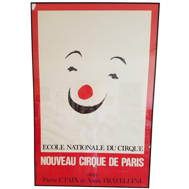 Vintage Paris Circus School Framed Poster For Sale
