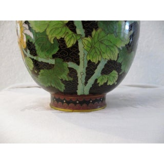 1980s Chinese Chrysanthemum & Butterfly Cloisonné Vase Preview