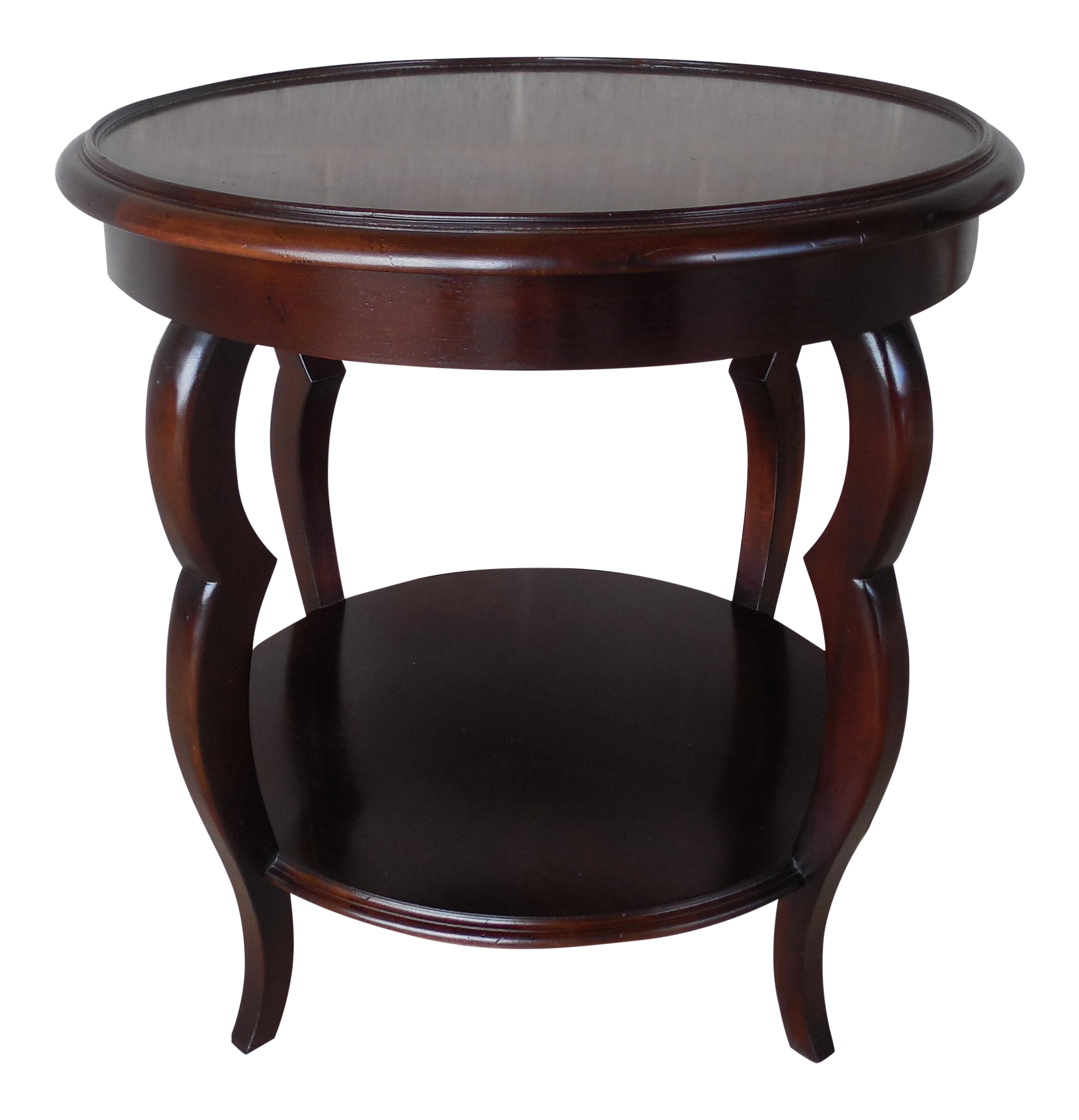 Delightful Baker Milling Road Round Mahogany Accent Table