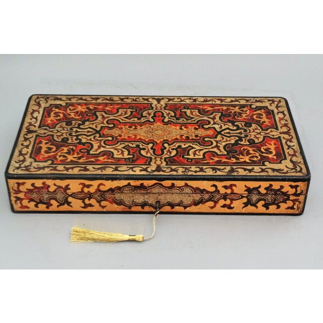 19th-Century French Playing Cards Box, Lock & Key, Counters For Sale In Houston - Image 6 of 8