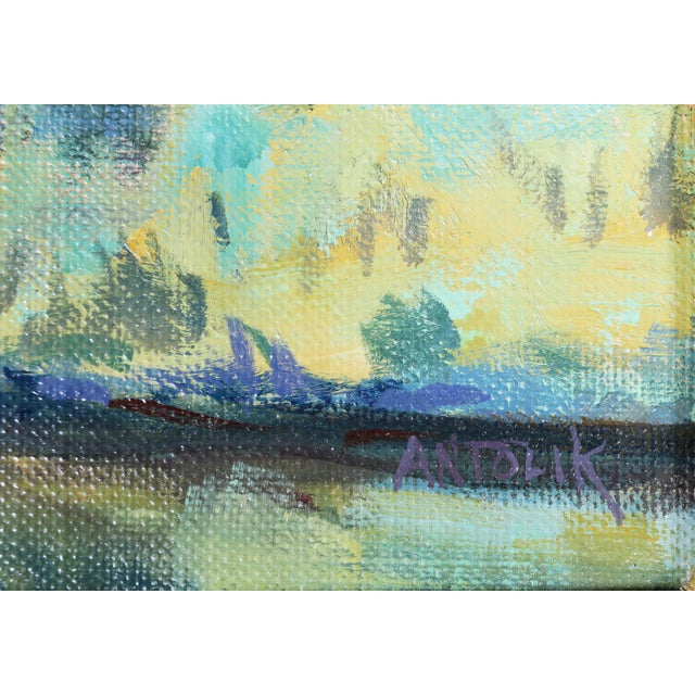 Oil Paint Oil on Panel Landscape by Jerry Antolik For Sale - Image 7 of 9