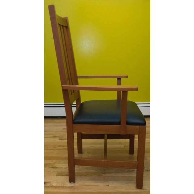 Brown Mission Style Brazillian Cherry Wood Dining Set From Crate & Barrel For Sale - Image 8 of 9