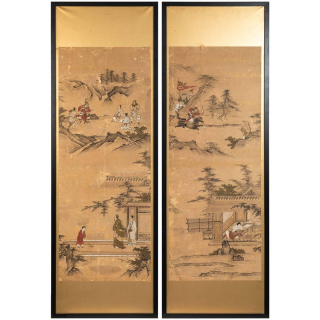 Antique Japanese Screen Panels For Sale - Image 12 of 12