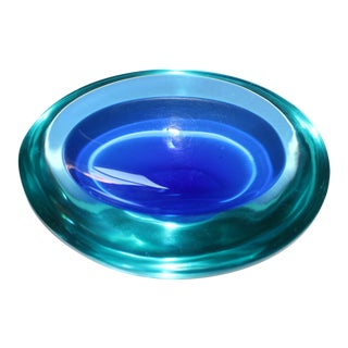 Italian Murano Cenedese Sommerso Glass Bowl Dish Ashtray For Sale
