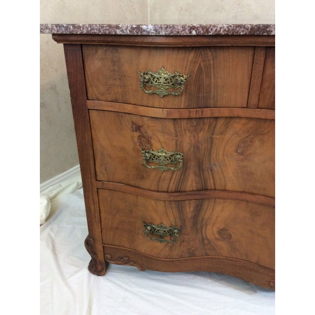 Antique Marble Top Chest For Sale - Image 4 of 13
