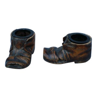 Pair of Treen Ornamental Shoes, Italian, 19thC For Sale