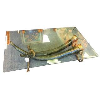 Italo Valenti Original Bronze Tusk Cocktail Table For Sale