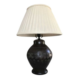 Mid-20th Century Glazed Terracotta Table Lamp For Sale